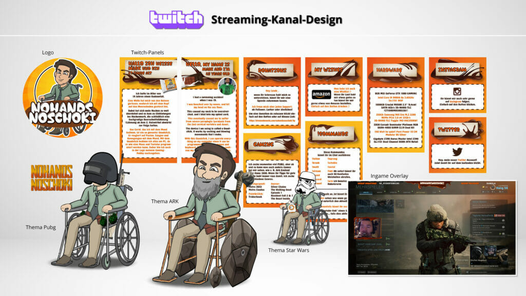 Stream Overlay Paneldesign Twitch NoHandsNoSchoki