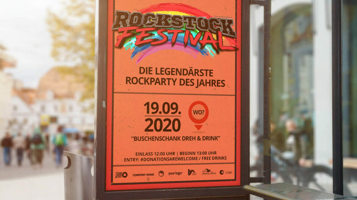Plakatdesign Rockstock Festival