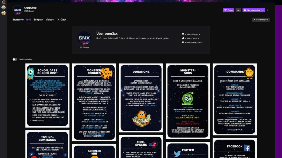 Twitch Kanal Design senn3xx